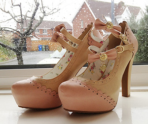 shoes, bow, and cute image