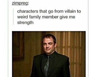 supernatural, crowley, and spn image