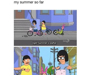 funny, summer, and bike image