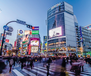 shibuya crossing in tokyo and the busiest of them alll image