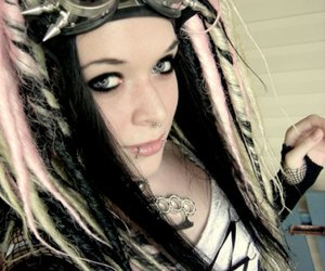 fille, gothic, and cybergoth image