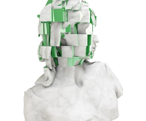 green, statue, and white image