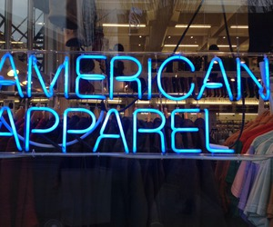 american apparel, light, and shop image