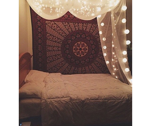 room, bed, and love image
