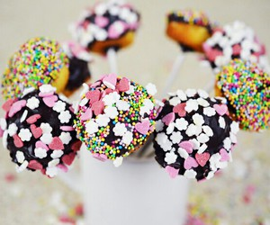 beauty, cake, and cake pops image
