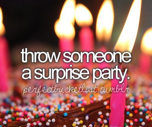party, surprise, and birthday image