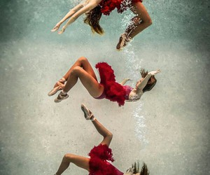 grunge, underwater, and ballerina image