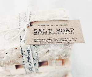 soap, salt, and white image