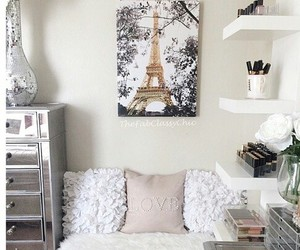 room, bedroom, and paris image