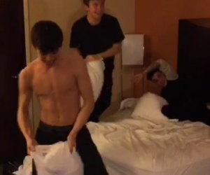 Hot, hayes grier, and pillow fight image