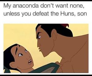 funny, anaconda, and mulan image