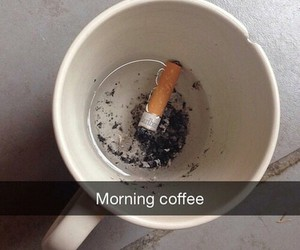 cigarette, coffee, and grunge image
