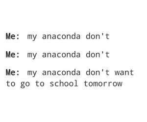 anaconda, funny, and school image