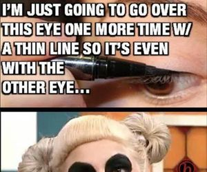 funny and eyeliner image