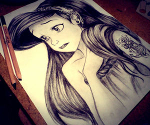 ariel, disney, and drawing image