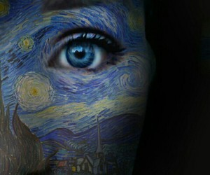 blue, van gogh, and night image