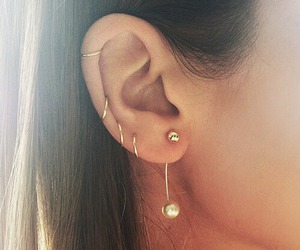 acessories, earrings, and girly image