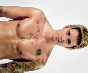 abs, Calvin Klein, and Tattoos image