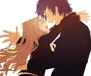 toradora, anime, and couple image