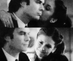 black and white, couple, and ian somerhalder image