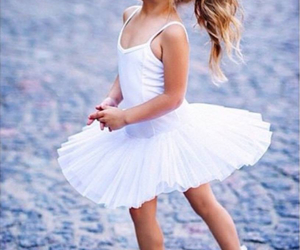 cute, baby, and ballerina image