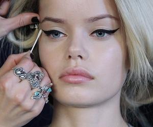 model, fashion, and eyeliner image