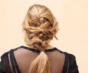 blonde, hair, and haut image