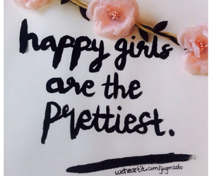happy, pretty, and quote image