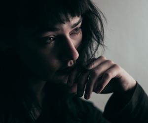 girl, sad, and black image