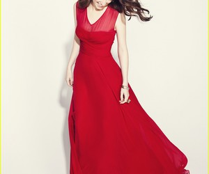 dress, red, and anna kendrick image