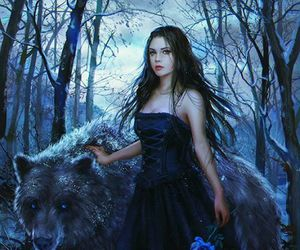 fantasy, bear, and forest image