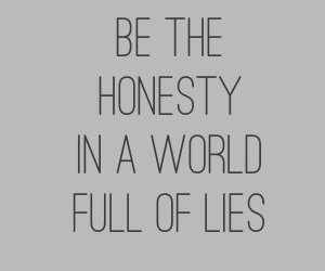 honesty, lies, and truth image