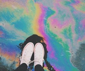 colorfull, holographic, and lonely image