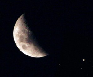 night, moon, and stars image