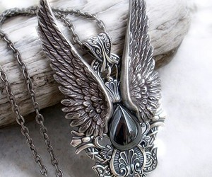 beautiful, goth, and Angel Wings image