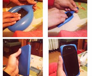 azul, funda, and celular image