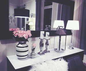 home, flowers, and room image