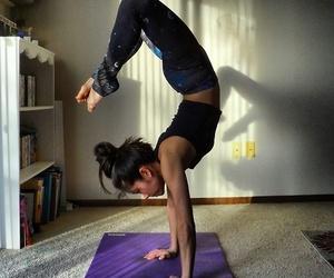 yoga, girl, and body image