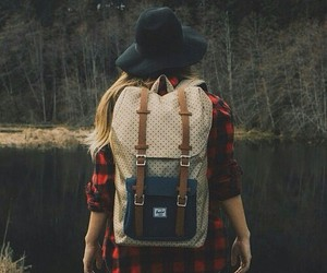 backpack, cool, and shirt image