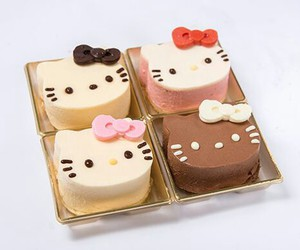 cafe, hello kitty, and sweets image