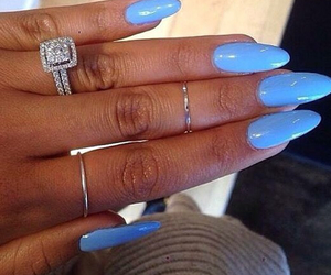 nails, blue, and luxury image