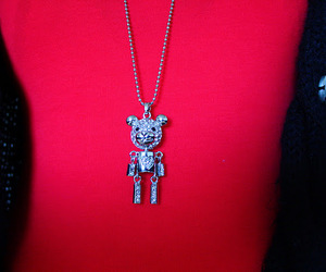 bear, bling, and necklace image