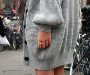 fashion, grey, and ring image