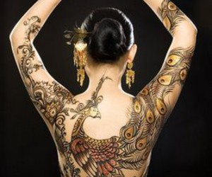 tattoo and peacock image
