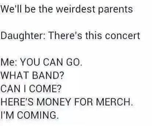 band, concert, and parents image