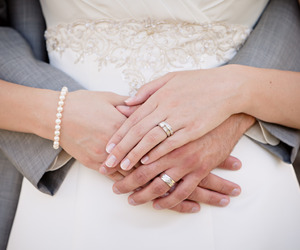 bridal, bride, and couple image