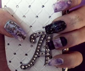 nail art, galaxy nails, and photography image