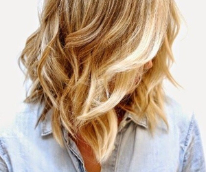 blond, curls, and hair image