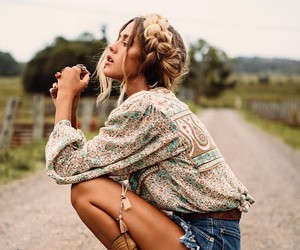 fashion, boho, and braid image