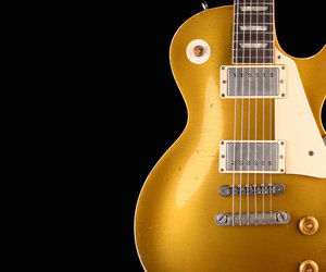 gibson, gold, and guitar image